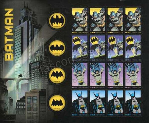 Sellos filatelia -comics-cine Batman