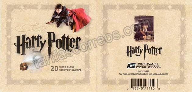 Sellos filatelia Carnet  del film  peliculas cine Harry Potter
