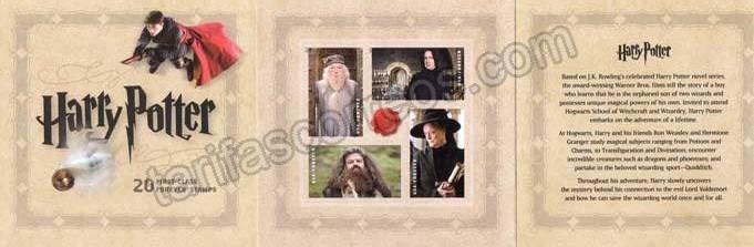 Sellos filatelia  Carnet peliculas cine Harry Potter