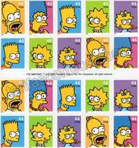 valor y precio Colección sellos dibujos animados los simson