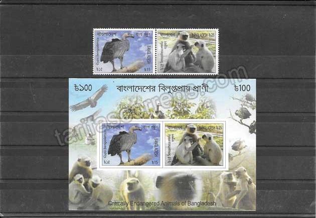 enviar paquetes desde - valor sellos y hojita fauna variada