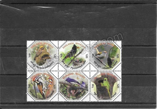 enviar paquetes desde - valor sellos  filatelia serie de fauna y flora de Bangladesh