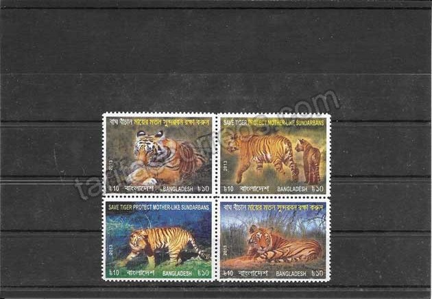 valor y precio Colección sellos fauna - tigres de Bangladesh