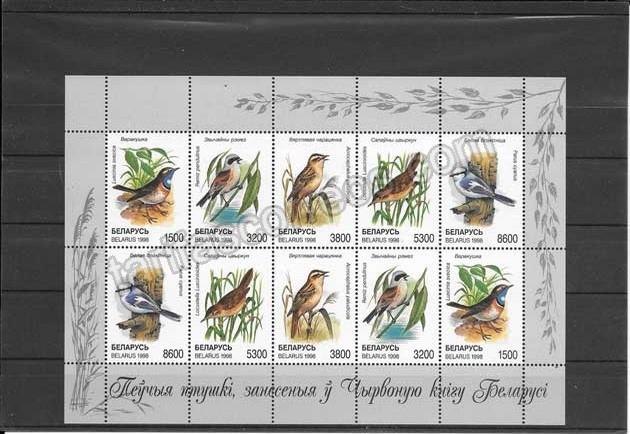 enviar paquetes desde - valor sellos filatelia fauna - aves de Bielorusia