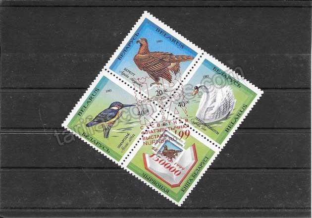 enviar paquetes desde - valor sellos filatelia fauna Bielorrusia-1999-01