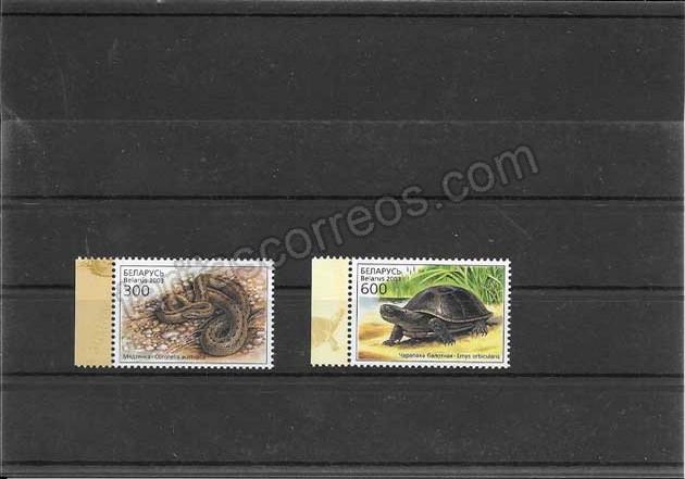 Filatelia sellos  fauna - reptiles del 2003