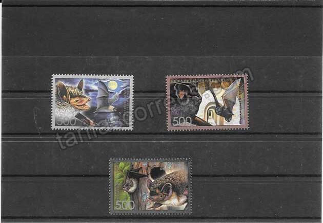 valor y precio Colección sellos serie, bloque y hojitas tema fauna- murciélagos