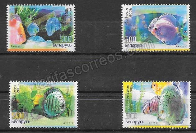 valor y precio Colección sellos fauna - diversos peces 2006