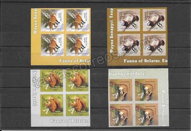 valor y precio Colección sellos serie, bloque de 4 y hojitas serie corriente fauna salvaje