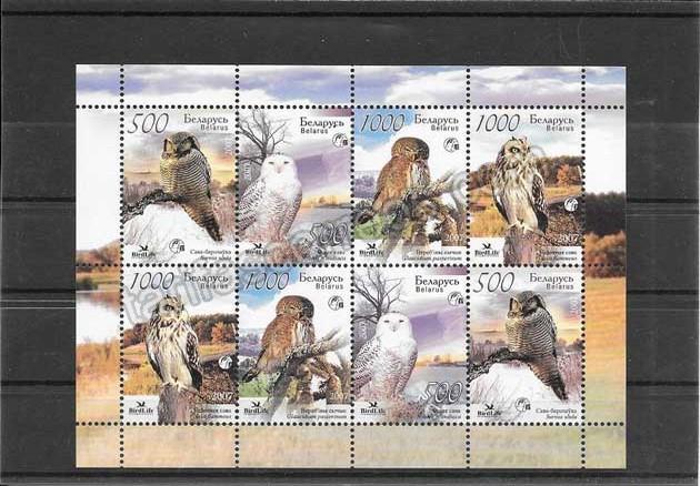 enviar paquetes desde - valor sellos fauna protegida de Bielorrusia en hohita y mini pliegos