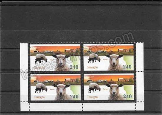 enviar paquetes desde - valor sellos fauna de Bielorrusia serie y bloques de 4 2007-10