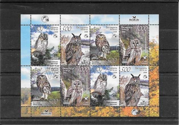 valor y precio Colección sellos  aves rapaces de Bielorrusia.