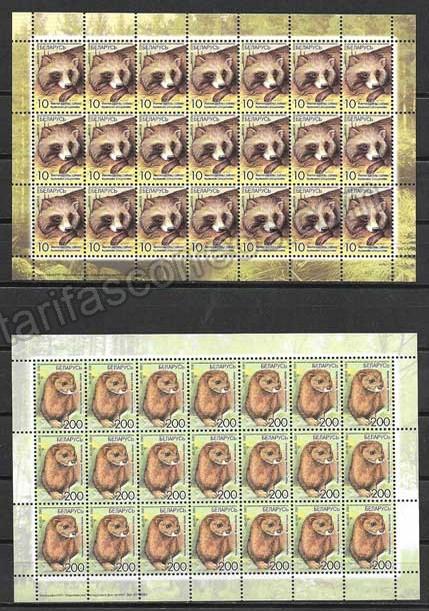 enviar paquetes desde - valor sellos filatelia fauna Bielorrusia-2008-04