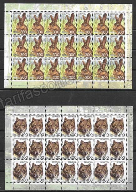 enviar paquetes desde - valor sellos filatelia fauna Bielorrusia-2008-05