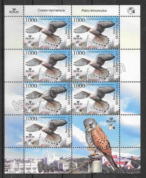 valor y precio Colección sellos fauna - aves halcón  Bielorrusia 2010