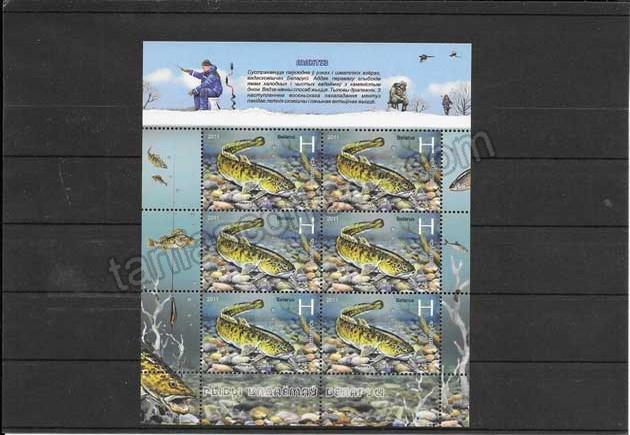 comprar Estampillas fauna 2 mini pliegos Bielorrusia-2011-09