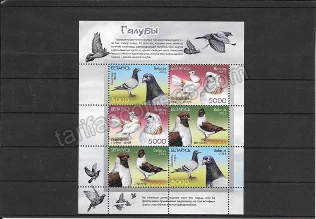 Filatelia sellos hojita de 3 series de paloma y 3 mini pliegos