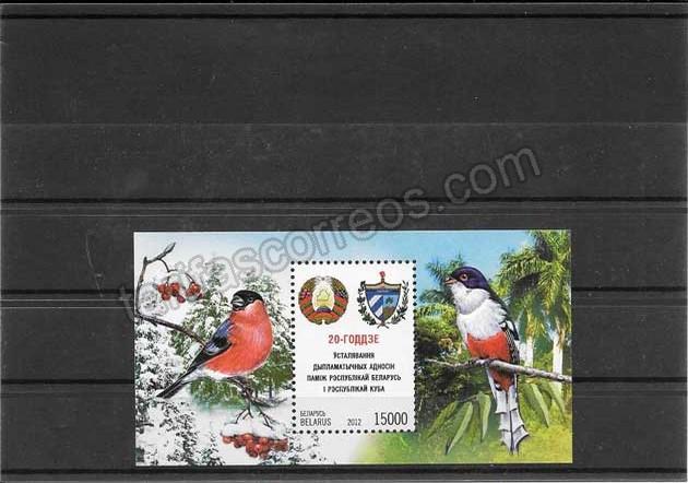 Filatelia sellos aves relaciones diplomáticas