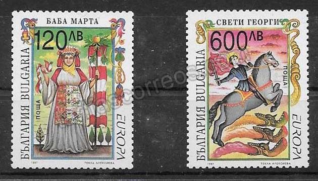 enviar paquetes desde - valor sellos Tema Europa Bulgaria 1997