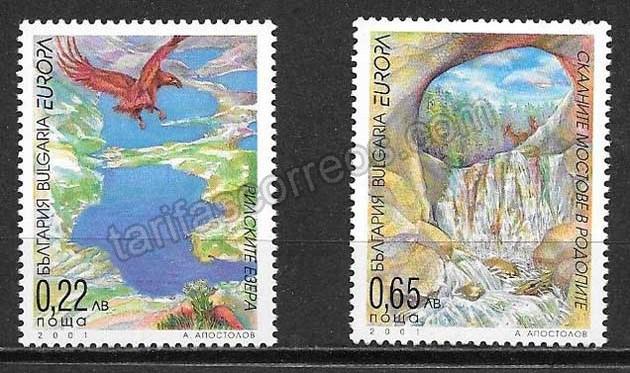 enviar paquetes desde - valor sellos Tema Europa Bulgaria 2001