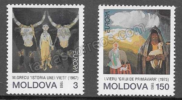 enviar paquetes desde - valor sellos Filatelia Tema Europa Moldavia 1993