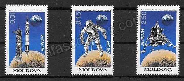 enviar paquetes desde - valor sellos Tema Europa 1994 moldavia