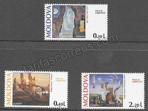 enviar paquetes desde - valor sellos Tema Europa Moldavia 1995