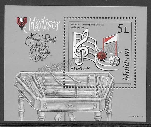 enviar paquetes desde - valor sellos Tema Europa Moldavia 1998