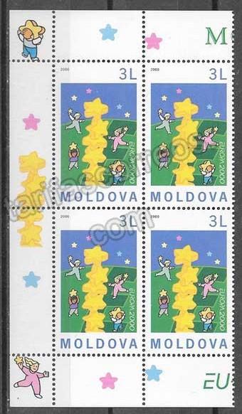 Filatelia Tema Europa Moldavia 2000