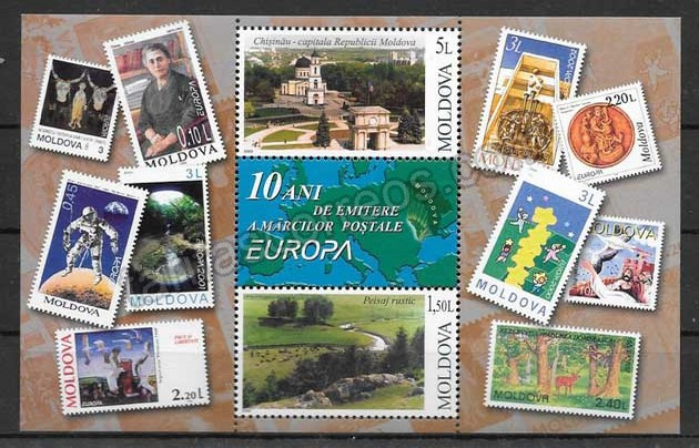 Filatelia Tema Europa Moldavia 2003