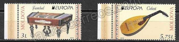 enviar paquetes desde - valor sellos Tema Europa Moldavia 2014