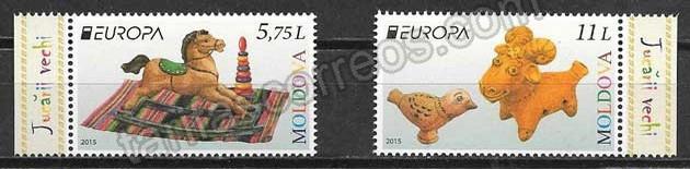 enviar paquetes desde - valor sellos Tema Europa 2015 Moldavia