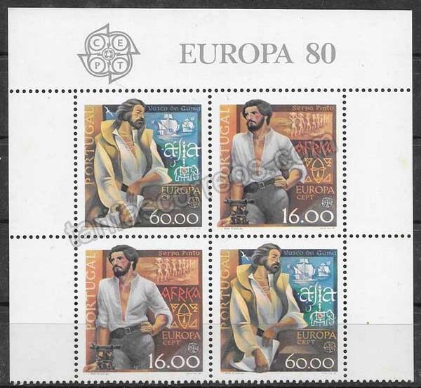 Filatelia Tema Europa Portugal 1980