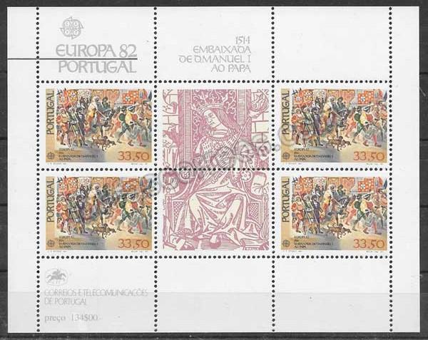 enviar paquetes desde - valor sellos colección Tema Europa 1982 Portugal