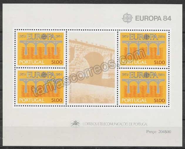 valor y precio Colección filatelia 1984 Tema Europa Portugal
