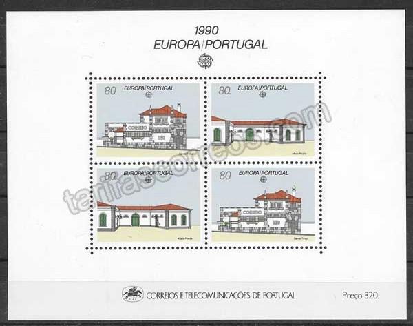 enviar paquetes desde - valor sellos Tema Europa Portugal 1990