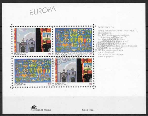 enviar paquetes desde - valor sellos Tema Europa Portugal 1993