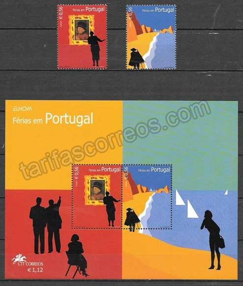 enviar paquetes desde - valor sellos Tema Europa 2004 Portugal