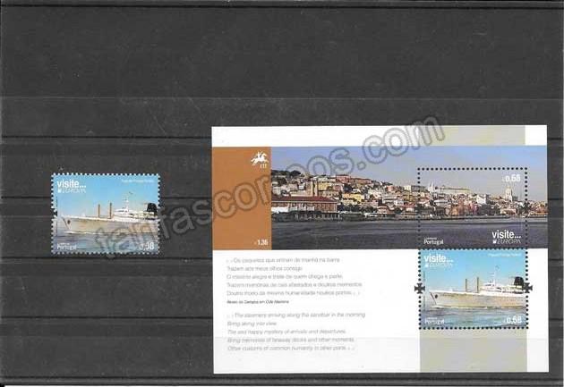 Filatelia sellos Tema Europa Turismo de Portugal