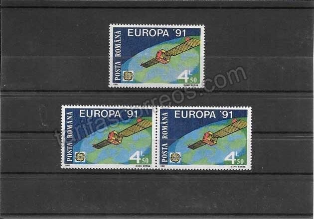 enviar paquetes desde - valor sellos Tema Europa Rumanía el espacio