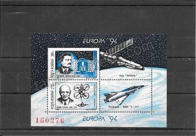 enviar paquetes desde - valor sellos Tema Europa Rumanía La Europa de las Invenciones 1994-03