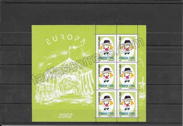 enviar paquetes desde - valor sellos filatelia Tema Europa Rumanía El Circo 2002-04