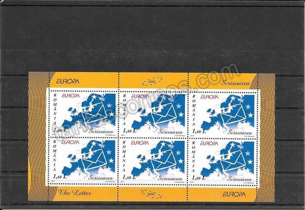 enviar paquetes desde - valor sellos filatelia Tema Europa Rumanía La Escritura de una Carta