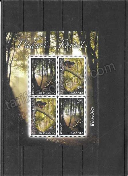 valor y precio Colección sellos Tema Europa Rumanía Los Bosques hojitas