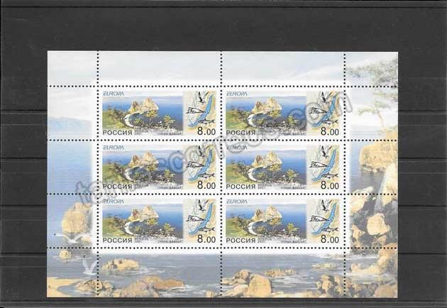 valor y precio Colección sellos Tema Europa Rusia El Agua Riqueza Natural