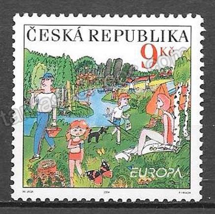 valor y precio Colección sellos Tema Europa chequia 2004