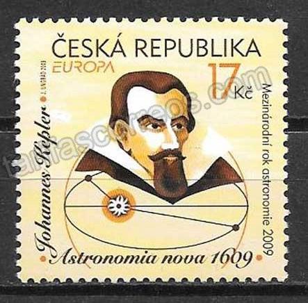 enviar paquetes desde - valor sellos colección Chequia Tema Europa 2009
