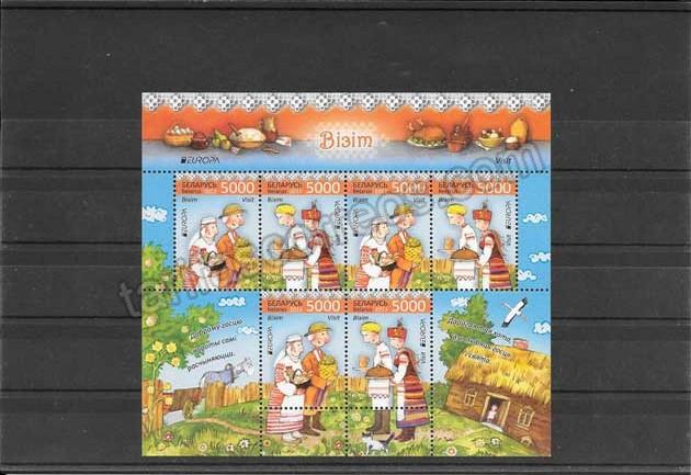 valor y precio Colección sellos Tema Europa Turismo hoja y Mini Pliegos