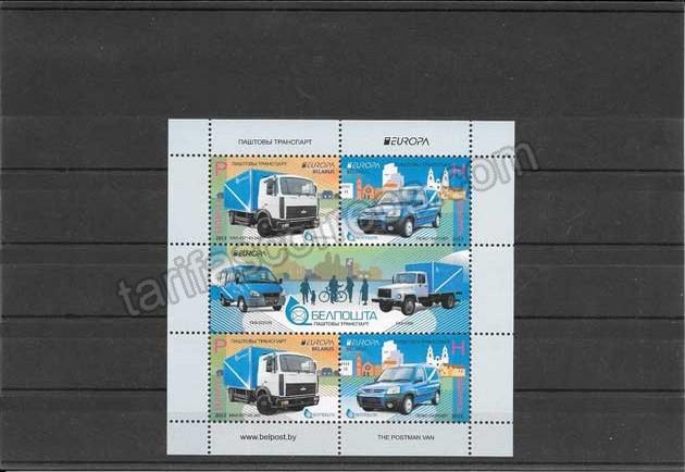valor y precio Colección sellos Tema Europa Vehículos Postales Hojita y 2 Mini Pliegos