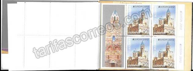 enviar paquetes desde - valor sellos Tema Europa Carnet Turismo Bulgaria